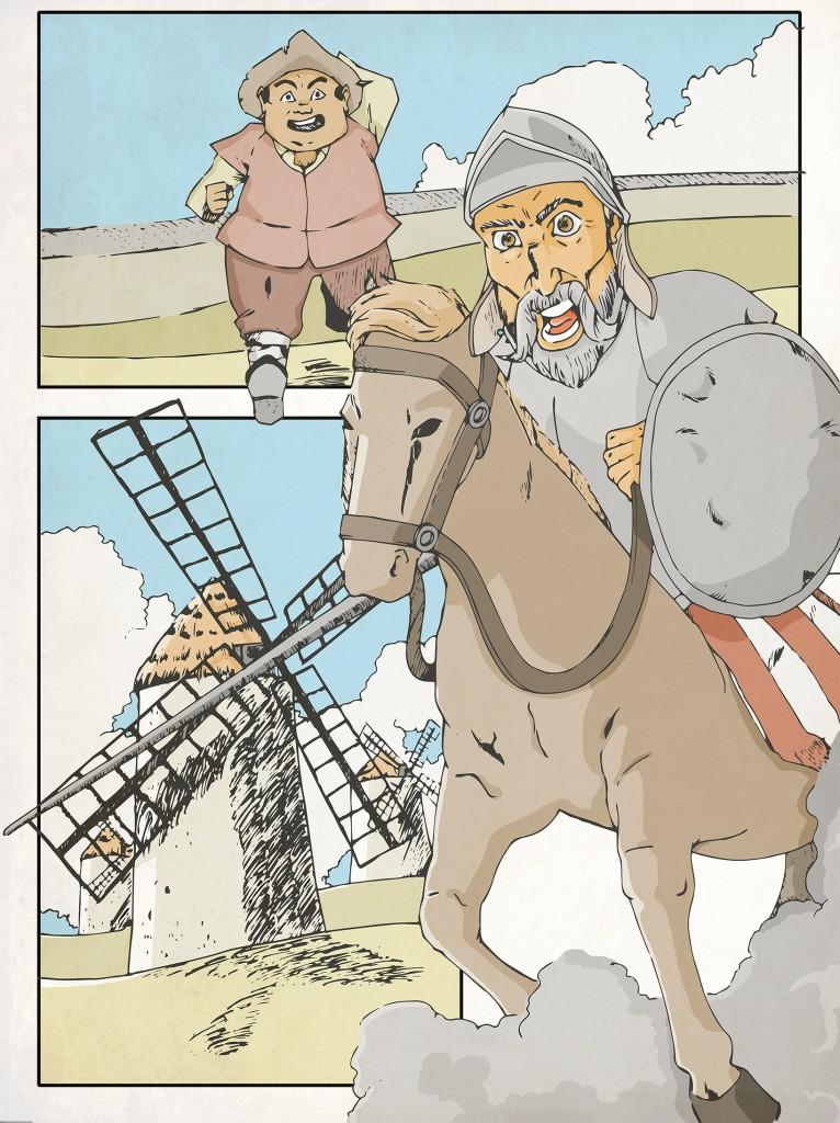 Escribiendo El Quijote adaptado (1)